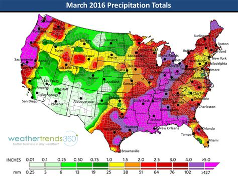 map us rainfall march 2016 global weather summary and april outlook