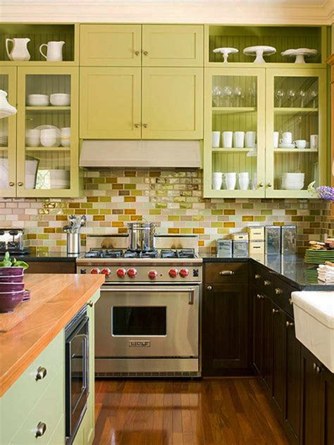 colorful backsplash tile 35 ways to use subway tiles in the kitchen digsdigs