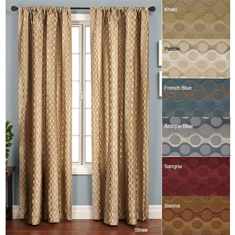 94 inch long curtains duchess circles rod pocket 96 inch panel