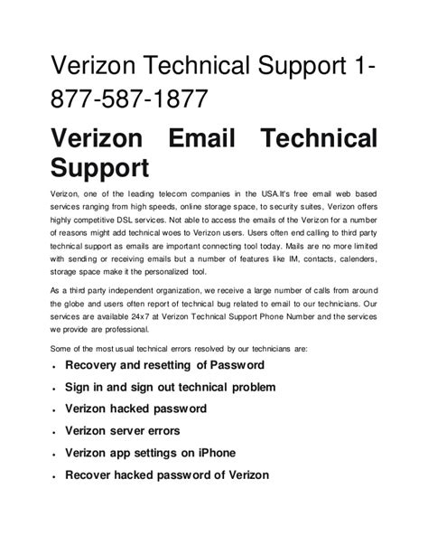 1 877 587 1877 verizon technical support phone number usa