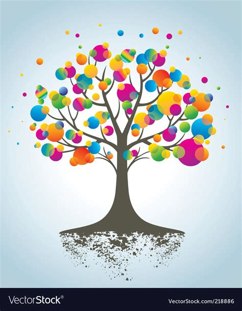 colorful tree colorful tree royalty free vector image vectorstock