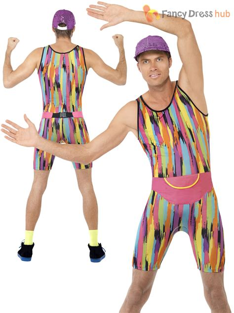 Mens Aerobics Instructor Costume Adults Mr Energizer 90s