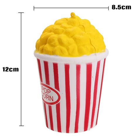 Squishy Popcorn Yellow 12cm pu jumbo squishy popcorn scented rising relieve stress gift