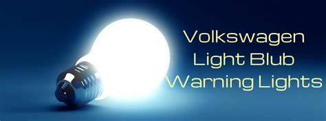 volkswagen light bulb warning light