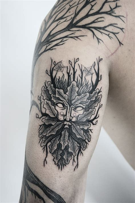 green man tattoo trends green design on behance