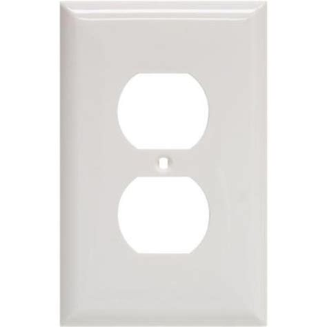 ge oversized 2 receptacle wall plate white 40019 the