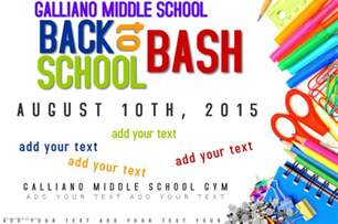 back to school poster template back to school bash event education supplies poster