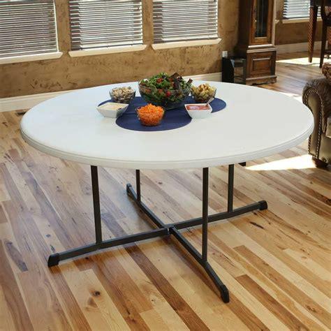 60 fold in half table lifetime 5402 8 pack 60 in white granite fold in