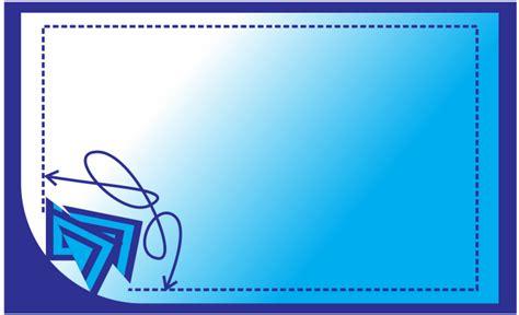 desain kartu nama biru tutorial it gratis cara membuat kartu nama dengan