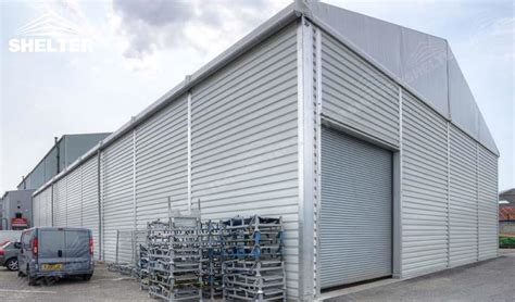 tent building warehouse structure with thermo roof for term storage dubai