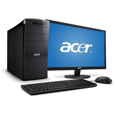 acer am3970g uw10p desktop pc with intel i5 2320 processor 8gb memory 23 quot monitor 1tb