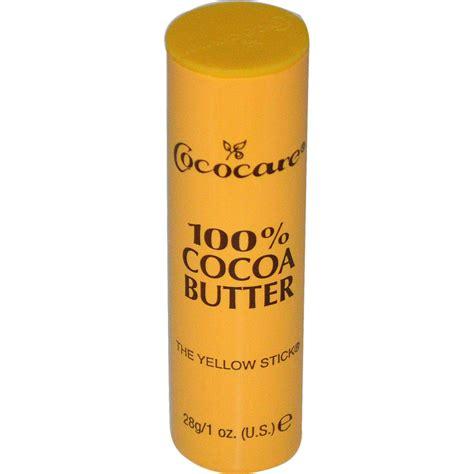 cococare 100 cocoa butter the yellow stick 1 oz 28 g iherb com
