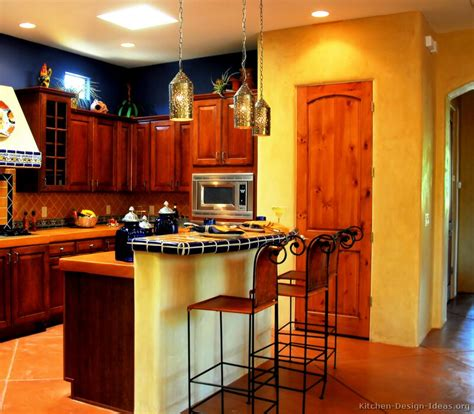 Mexican Style Kitchen Design bold amp spicy mexican kitchen with golden adobe walls rich wood