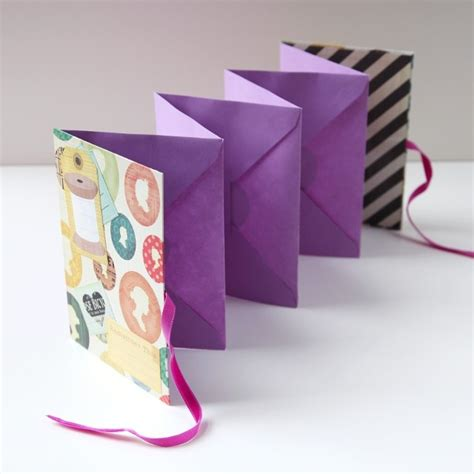 How To Make A Paper Accordion - tutorial folding envelope mini album scrap booking