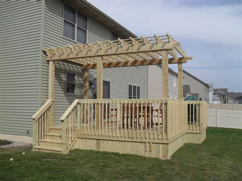 Attached Pergola First Class Decks Pergola On A Deck