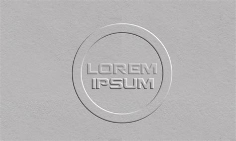 How To Make Embossed Paper - photoshop tutorial embossed paper logo design