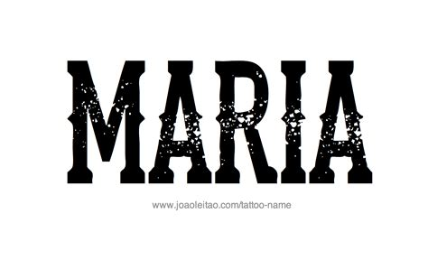 maria tattoo name name designs