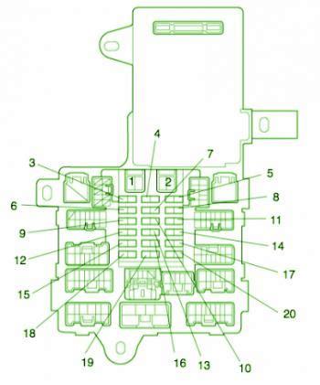 lexus  driver side fuse box diagram circuit wiring diagrams