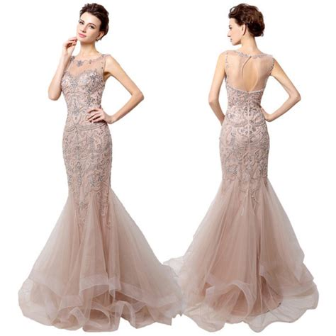 Mermaid Gown dress mermaid prom dress tulle beading dress luxury