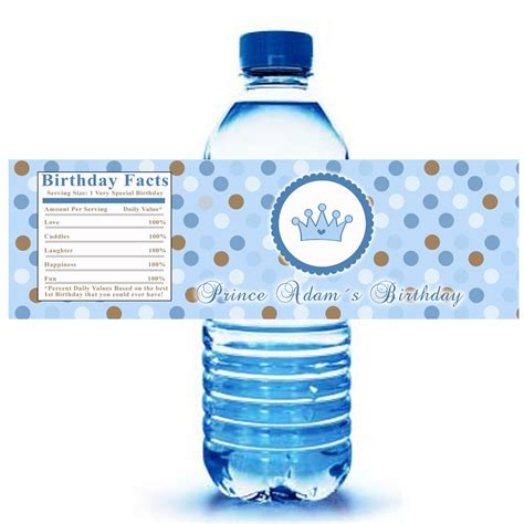 printable labels water bottles printable prince crown water bottle labels wrappers