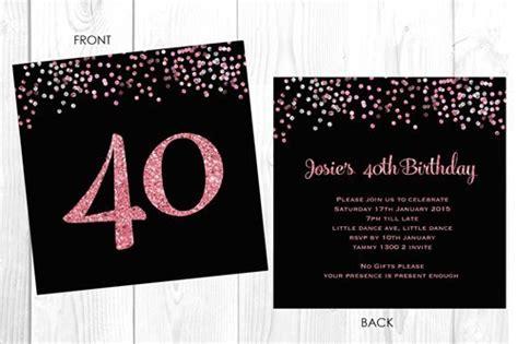 design your own birthday invitations australia buy personalised 40th birthday invitations glitter efffect custom 40th birthday invites