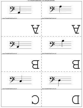 printable violin note flash cards pinterest the world s catalog of ideas