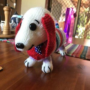 dave the stash busting dachshund knit flat in the dave the stash busting dachshund knit flat in the