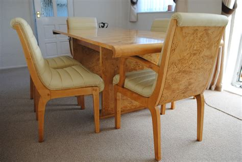 art deco dining table and six chairs at 1stdibs norma and ian co durham cloud 9 art deco furniture sales