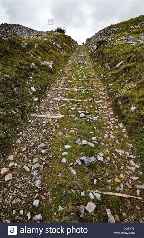 Steep Incline steep incline of dismantled tramway at penwyllt in the