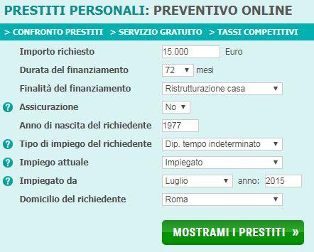 confronto prestiti personali banche prestiti personali on line prestito personale confronto