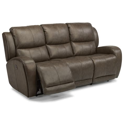 power reclining sofa with usb flexsteel latitudes chaz contemporary power reclining