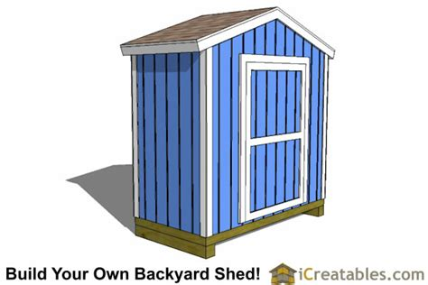 4x8 Sheds by 4x8 Shed Plans 4x8 Storage Shed Plans Icreatables