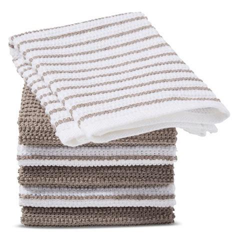 Sejb27d Set Cotton Grey Terry Stripe gray stripe dish cloth 6 pk room essentials target