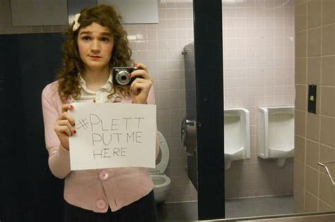 people using the bathroom trans people are protesting discriminatory bathroom laws