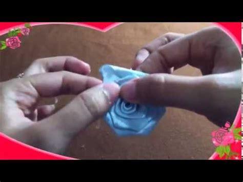 youtube membuat bunga mawar dari pita cara membuat bunga dari kain pita youtube