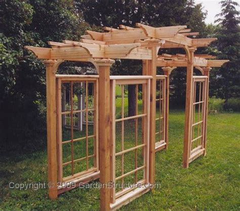 arbor trellis plans arts crafts pergola how to build arbors arbours