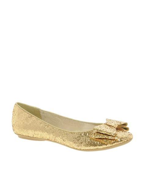 Flat Shoes Gliter Rf01 1 faith faith azriel gold glitter bow flat shoes