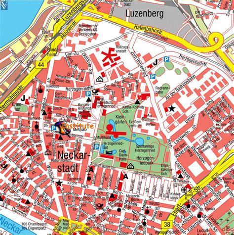 manheim germany map kaarten mannheim gedetailleerde gedrukte