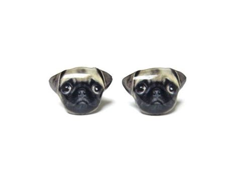 pug earrings brown pug stud earrings a14e84 made to order price marked do