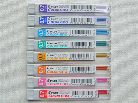 colored mechanical pencil lead 8 x pilot color eno 0 7 mechanical pencil lead refills