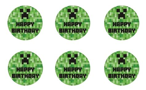 free minecraft printable birthday bundle it s a mother thing