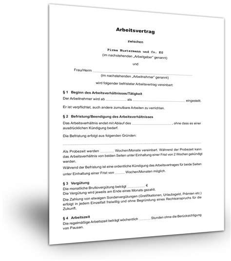 Vorlage Kündigung Arbeitsvertrag Mit Aufhebungsvertrag Befristeter Arbeitsvertrag Muster Kostenloser