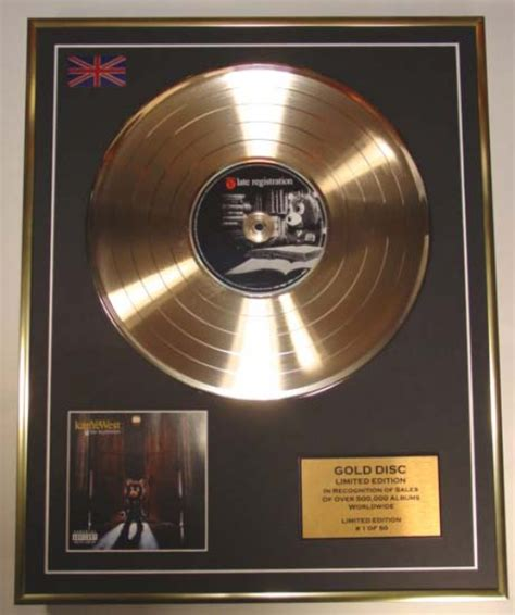 Kayne For Limited Edition At Shopbop by Kanye West Limited Edition Cd Gold Disc Album Late