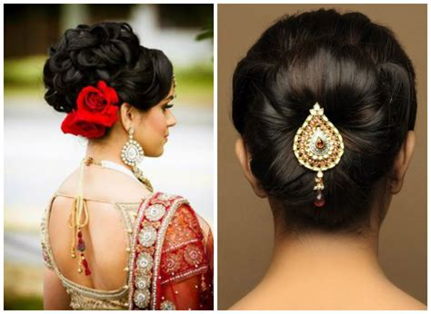 Hairstyles For Buns Indian | various indian hairstyle of medium length for weddings