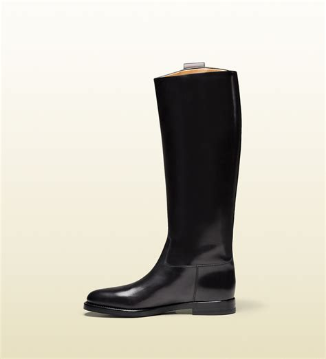mens black leather riding boots gucci men s leather riding boot from equestrian collection