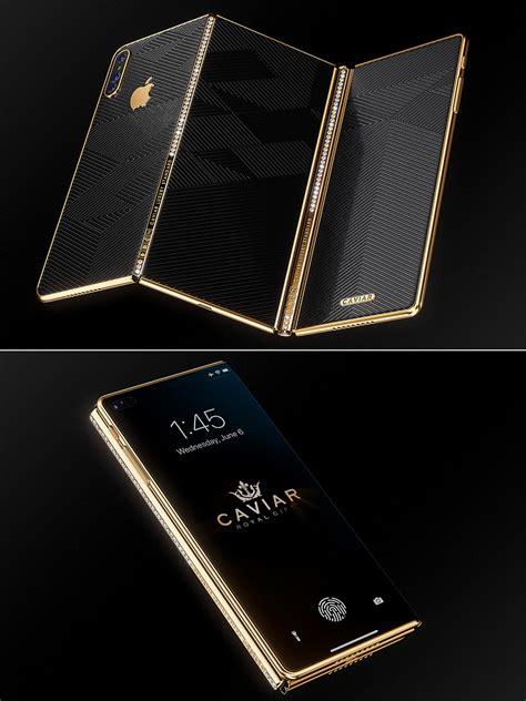 luxurious iphone  concept boasts tri fold design    display   diamonds techeblog