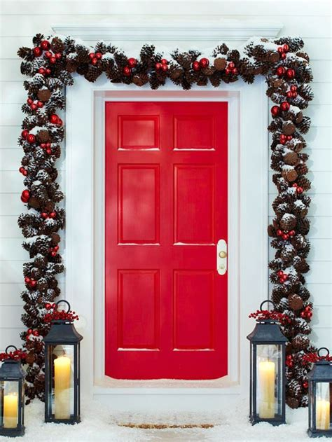 christmas front door decor 60 beautifully festive ways to decorate your porch for christmas diy crafts