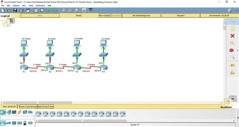 subnetting tutorial in packet tracer 9 1 4 7 packet tracer subnetting scenario 2 instructions