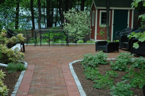 backyard brick patio patio materials what is the cost of a brick patio
