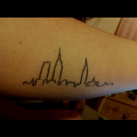 city line tattoo my new york skyline inner forearm i